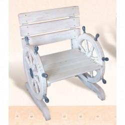 Wooden Shipwheel Chair