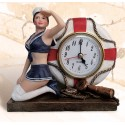 "6"" Lady Sailor with lifering clock"